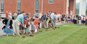 Calvary Baptist Church held a groundbreaking ceremony for its new facility on Sunday, Aug. 7. (Contributed photo)