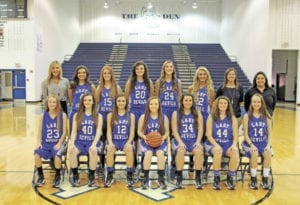 The 2016-17 UCHS Blue Devil varsity team will open play on Thursday, Nov. 17, against both Volunteer and Greeneville in the Devils' Den. Tip-off of the Volunteer game is scheduled for 2:30 p.m.; the Greeneville game is scheduled to begin at 8 p.m. The varsity squad includes, pictured from left, back row, head coach Kerri King, Neelee Griffith, Ashley Edwards, Halie Padgett, Kaitlin Bailey, Kenedy King, assistant coach Megan Davis and varsity assistant Keeli Parkey; front row, Kaylia Street, Ashtan Vance, Chloe Powers, Kaylee Hendrickson, Rachel Lynch, Allee Griffith and Kaitlyn Tilson. (Photo contributed by Anthony Piercy)