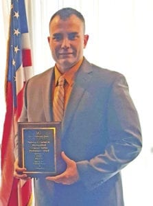 Erwin Police Officer Todd Wilcox received ETSU's Nicholas J. Carimi Jr. Distinguished Criminal Justice Professional Award. (Contributed photo)